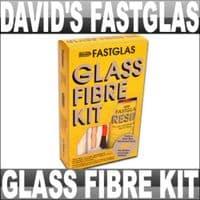 DAVIDS FASTGLAS GLASS FIBRE KIT LARGE CAR BOAT REPAIR